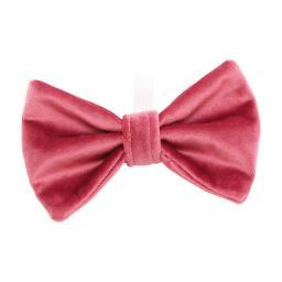Pink Velvet Bow Tie