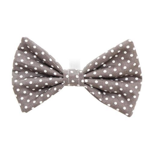 Dotty Grey Bow Tie