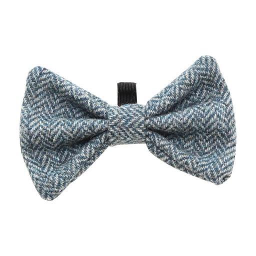 Blue Tweed Bow Tie