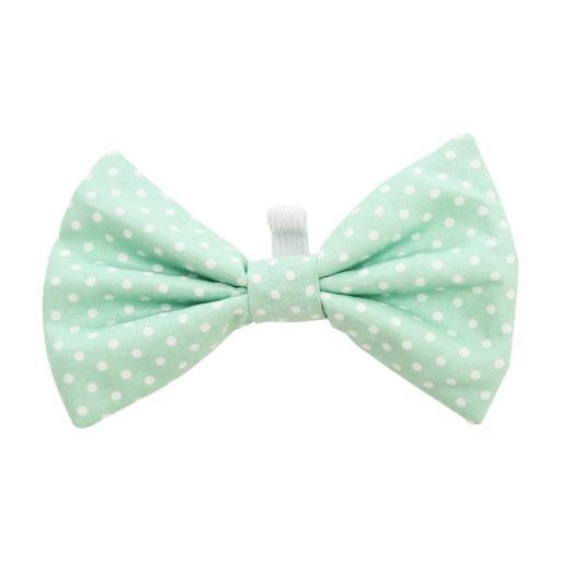 Dotty Mint Bow Tie