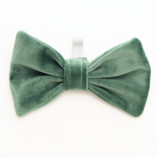 Green Velvet Bow Tie