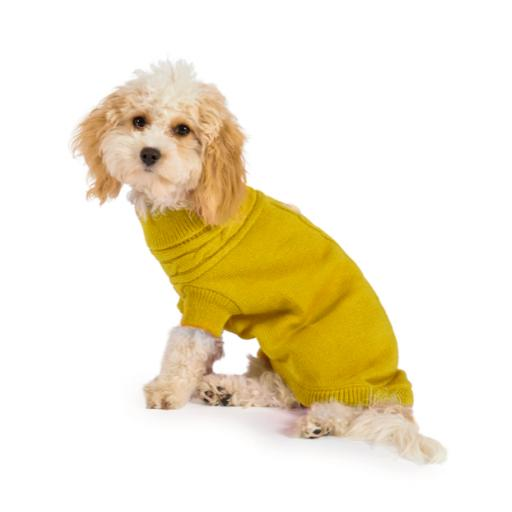 Cable Knit Jumper Mustard